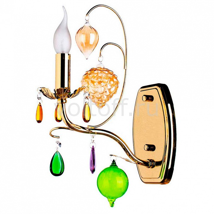 Бра Arte LampЭлитные светильники<br>Артикул - AR_A2011AP-1GO,Серия - Ricchezza<br>