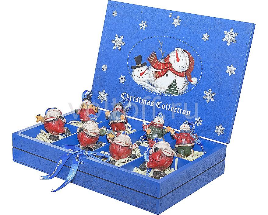 Mister Christmas Набор из 8 подвесных снеговиков (9 см) LH-F3-SET_8