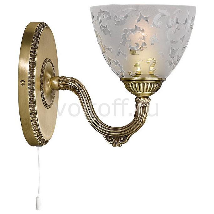 Бра Reccagni AngeloСветильники под бронзу<br>Артикул - RA_A_6252_1,Серия - 6252<br>