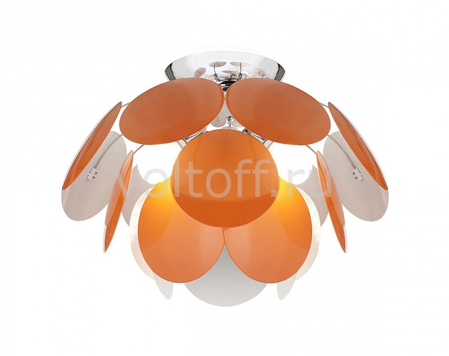 Потолочная люстра Luce SolaraМеталлические светильники<br>Артикул - LC_3000_4PL_Orange_White,Серия - 3000<br>