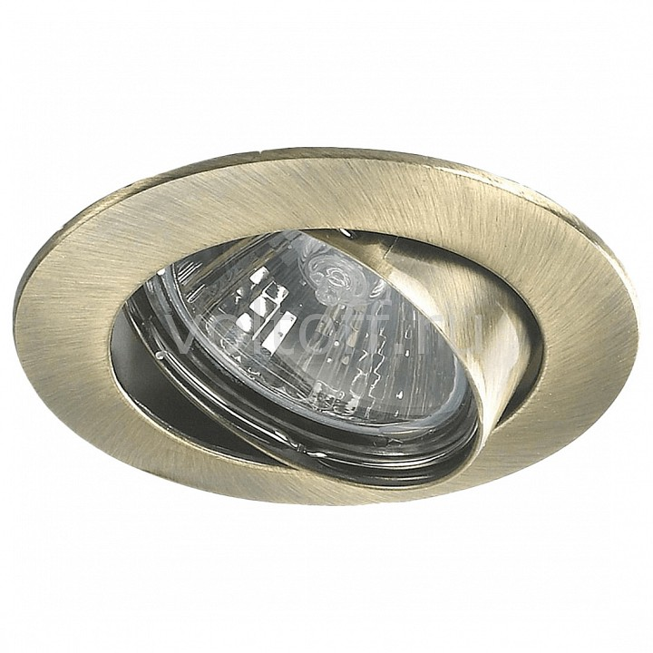 Встраиваемый светильник MW-LightСветильники под бронзу<br>Артикул - MW_637010301,Серия - Круз 1<br>