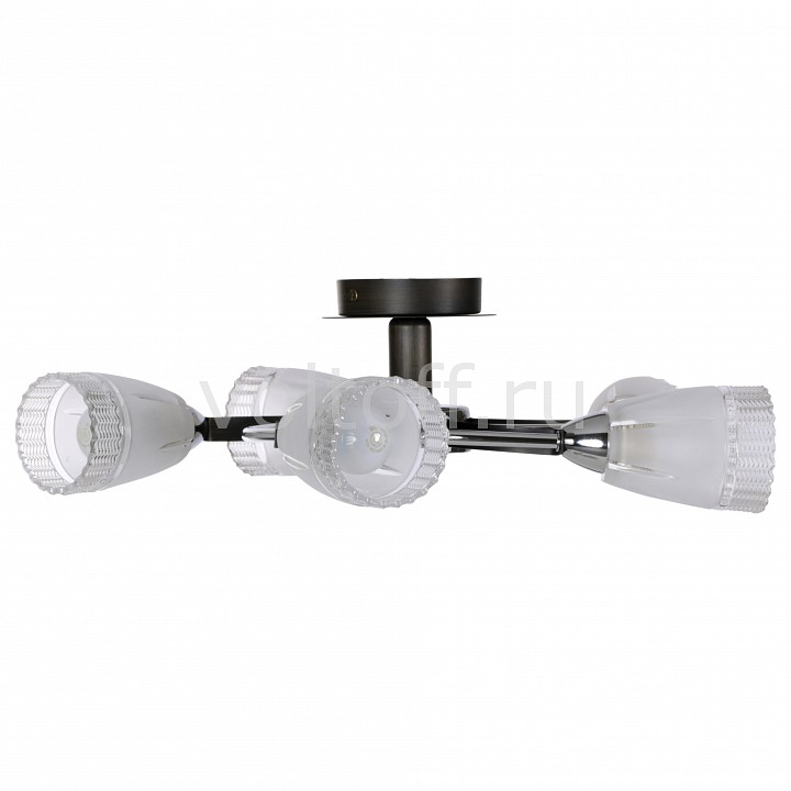 Люстра на штанге IDLampПотолочные светильники модерн<br>Артикул - ID_865_5PF-darkchrome,Серия - 865<br>