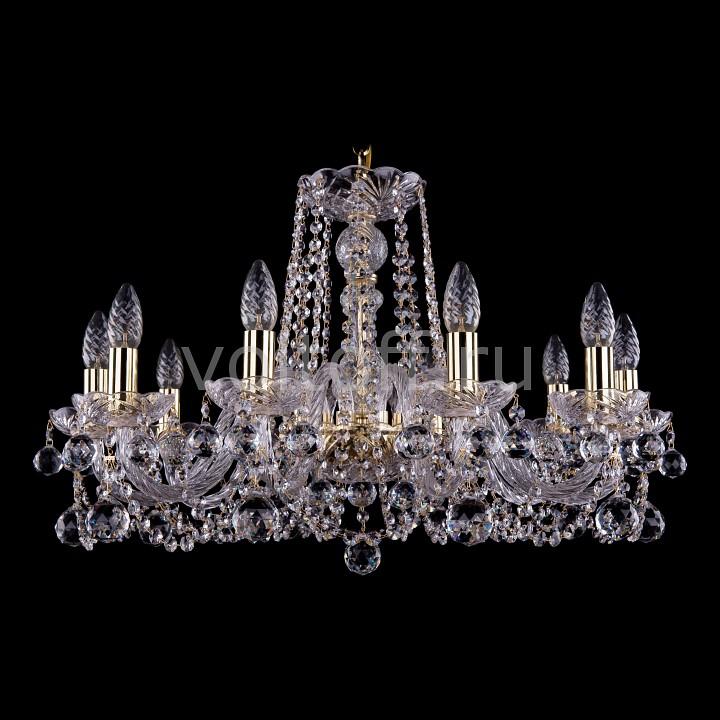 Подвесная люстра Bohemia Ivele CrystalЭлитные светильники<br>Артикул - BI_1402_10_240_G_Balls,Серия - 1402<br>