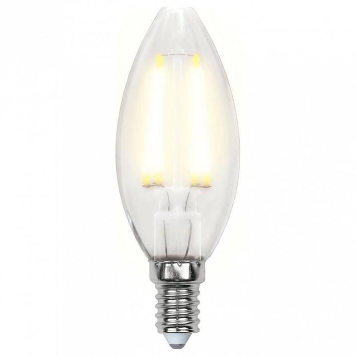 Лампа светодиодная Uniel E14 220В 6Вт 3000K LEDC356WWWE14FRPLS02WH
