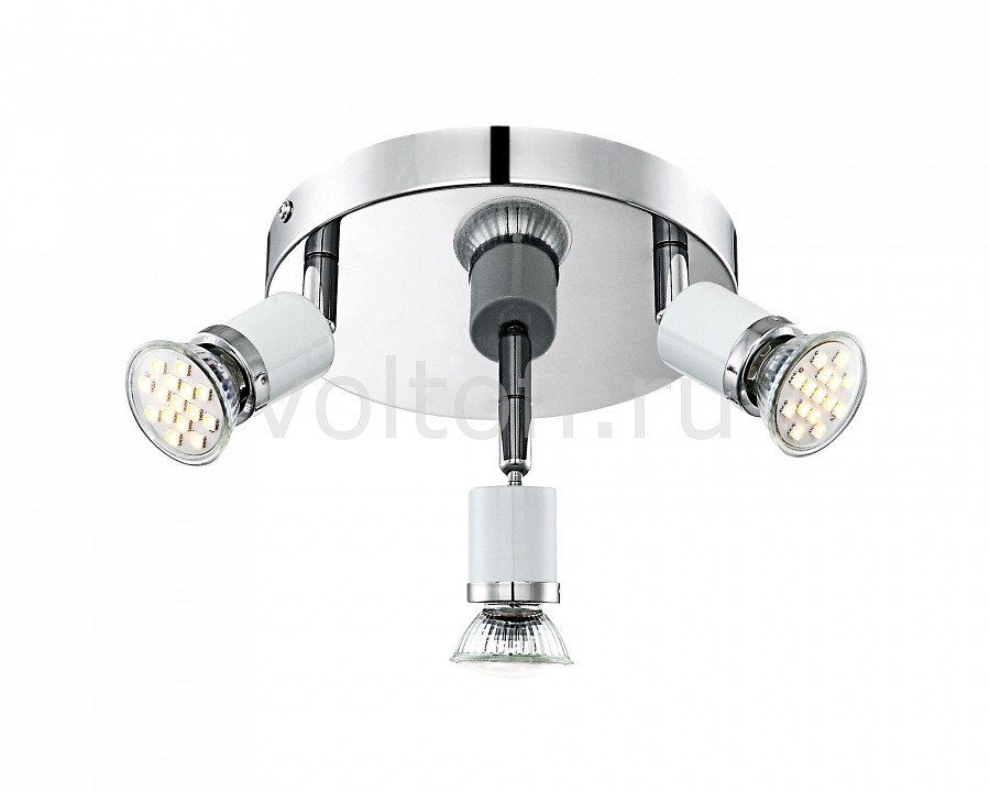 Спот GloboС тремя лампами<br>Артикул - GB_57996-3,Серия - Fina<br>