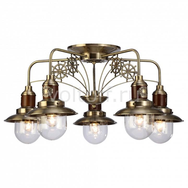 Потолочная люстра Arte LampСветильники под бронзу<br>Артикул - AR_A4524PL-5AB,Серия - Sailor<br>