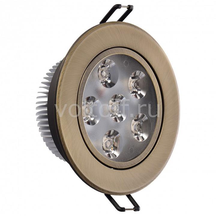 Встраиваемый светильник MW-LightСветильники под бронзу<br>Артикул - MW_637013106,Серия - Круз<br>