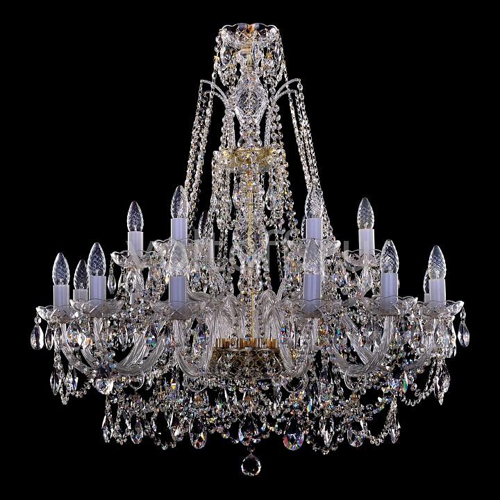 Подвесная люстра Bohemia Ivele CrystalЭлитные светильники<br>Артикул - BI_1411_12_6_300_G,Серия - 1411<br>