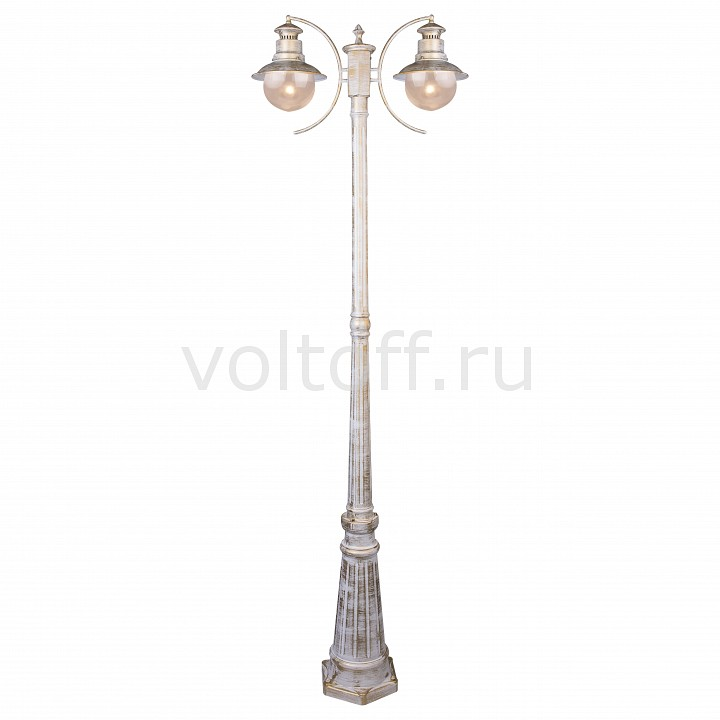 Фонарный столб Arte Lamp Amsterdam A1523PA-2WG 76650 0160 i o connectors sabre 7 5mm kit mr li