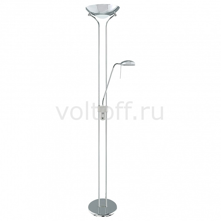 Торшер с подсветкой Arte Lamp Duetto A4329PN-2CC торшер arte lamp duetto led a5905pn 2cc