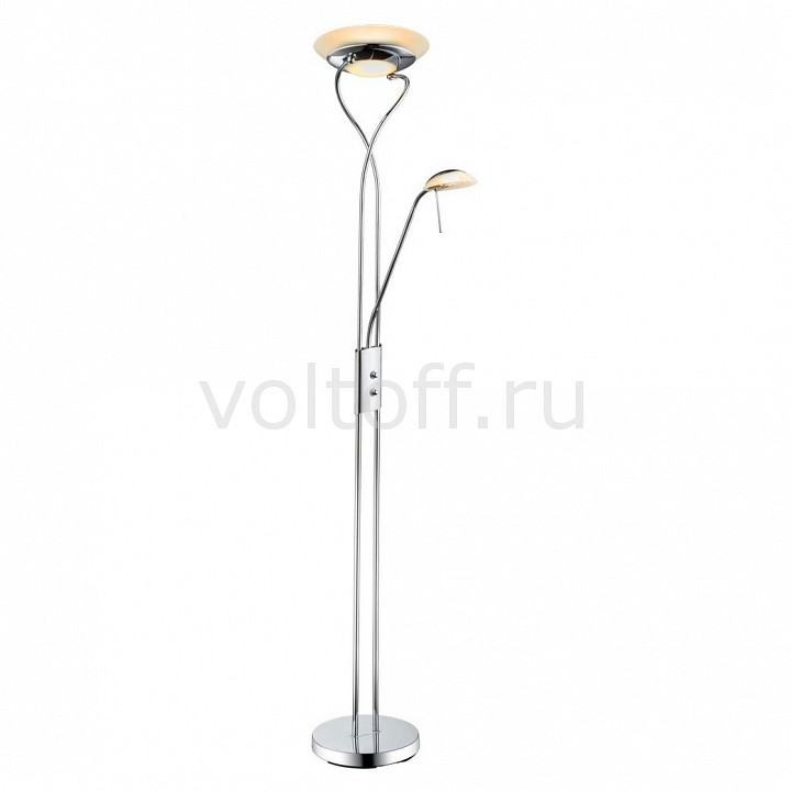 Торшер с подсветкой Arte Lamp Duetto A4399PN-2CC торшер arte lamp duetto led a5905pn 2cc