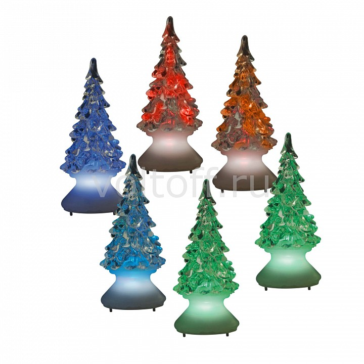 Набор из 12 Елей световых (10 см) Uniel ULD-F620 RGB XMAS TREE SET12