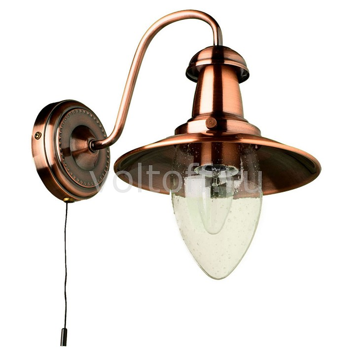Бра Arte Lamp Fisherman A5518AP-1RB люстра на штанге аврора таверна 10077 5l