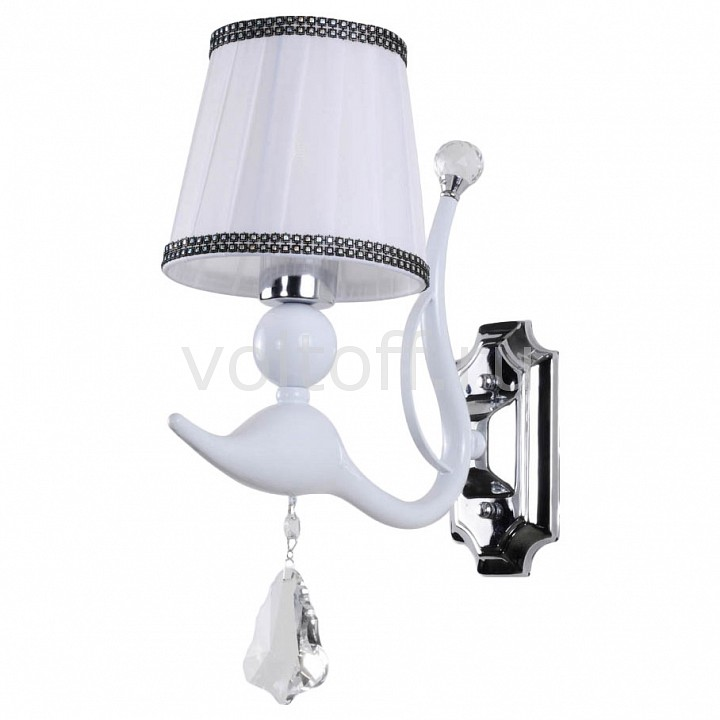 Бра Crystal Lux FLAMINGO AP1 WHITE напольная акустика dali opticon 5 white satin